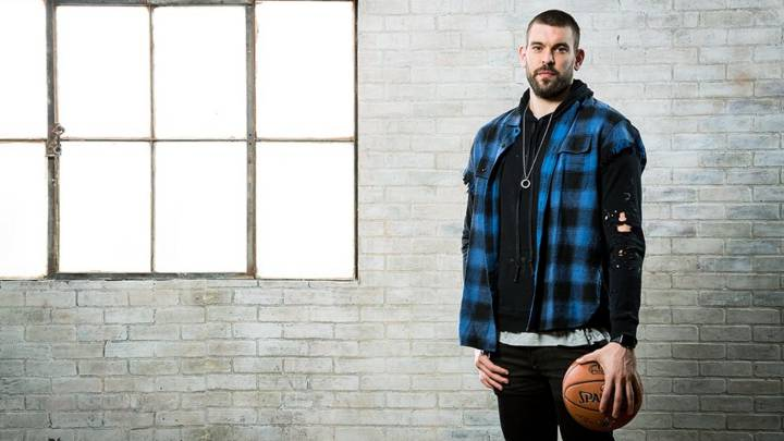 Marc Gasol, en  la sesión de fotos del All Star.