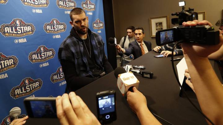 Marc Gasol, durante el \'media day\' del All Star.
