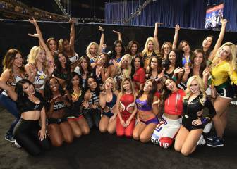 Las cheerleaders acaparan focos entre novatos y celebrities