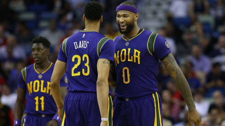 DeMarcus Cousins y Anthony Davis.