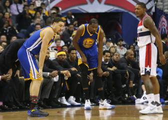 Warriors caen en Washington y sufren con lesión de Durant