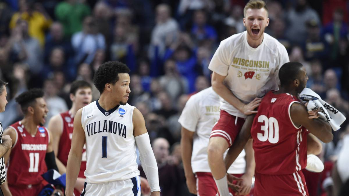 Puro March Madness: Wisconsin elimina al campeón, Villanova