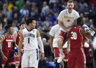 ¡March Madness! Wisconsin elimina al campeón Villanova