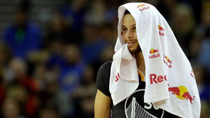 Stephen Curry, durante un partido esta temporada.