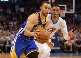 Curry y Thompson dejan a Westbrook sin triple-doble