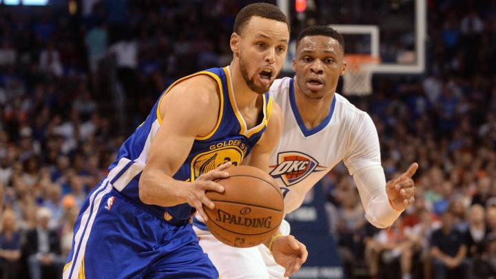 Curry (23) y Thompson (34) dejan a Westbrook sin triple-doble