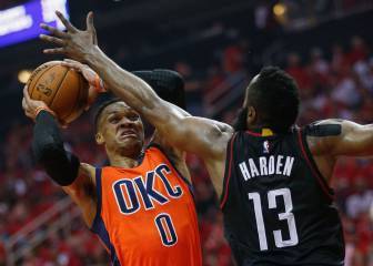 Harden fires Rockets ahead of Westbrook's Thunder