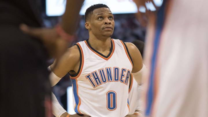 Russell Westbrook, ante los Houston Rockets.
