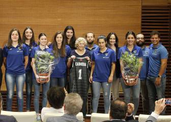 Carmena recibe al Movistar Estudiantes por su ascenso