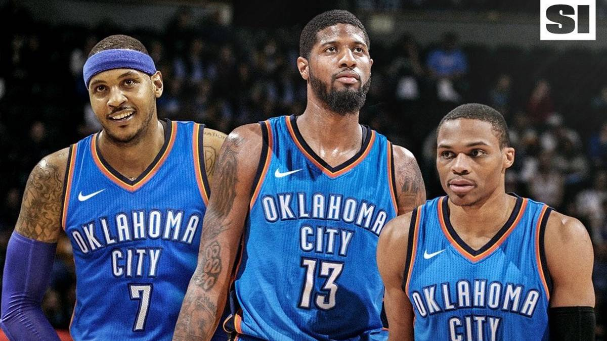 NBA: Carmelo Anthony se une a Westbrook y Paul George