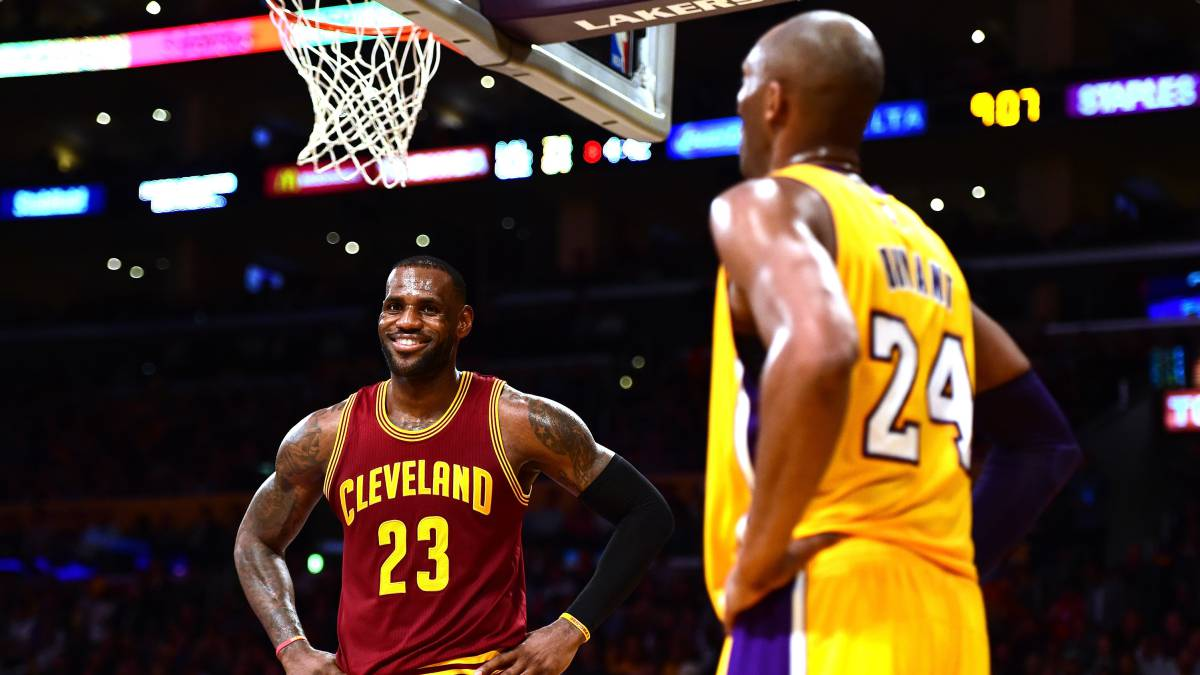 the best attitude cc765 2ced0 LeBron James y Kobe Bryant