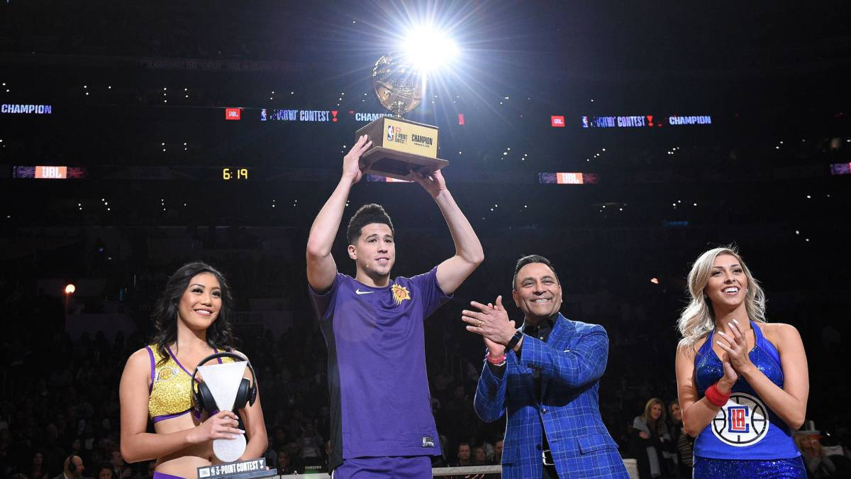 Devin Booker se coronó en el Concurso de Triples de la NBA