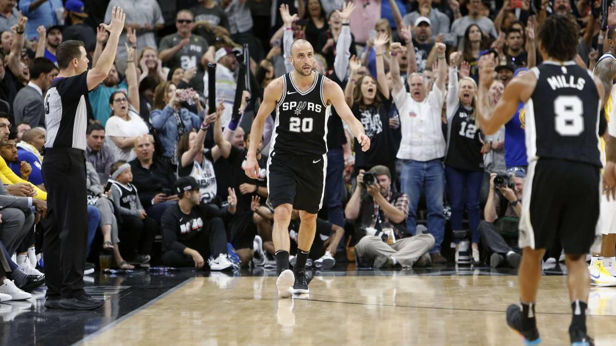 ¡Respeto! San Antonio Spurs retirará dorsal Manu Ginóbili como homenaje