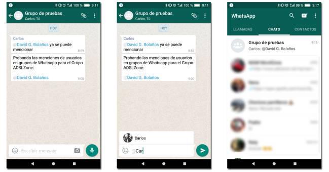 Cómo mencionar a contactos en un grupo de chat de WhatsApp