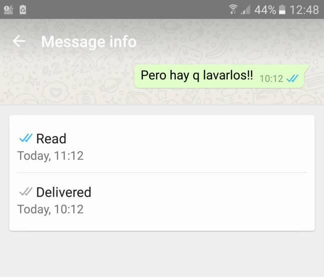 Con esta función sabemos cuándo ha sido leído nuestro mensaje de WhatsApp