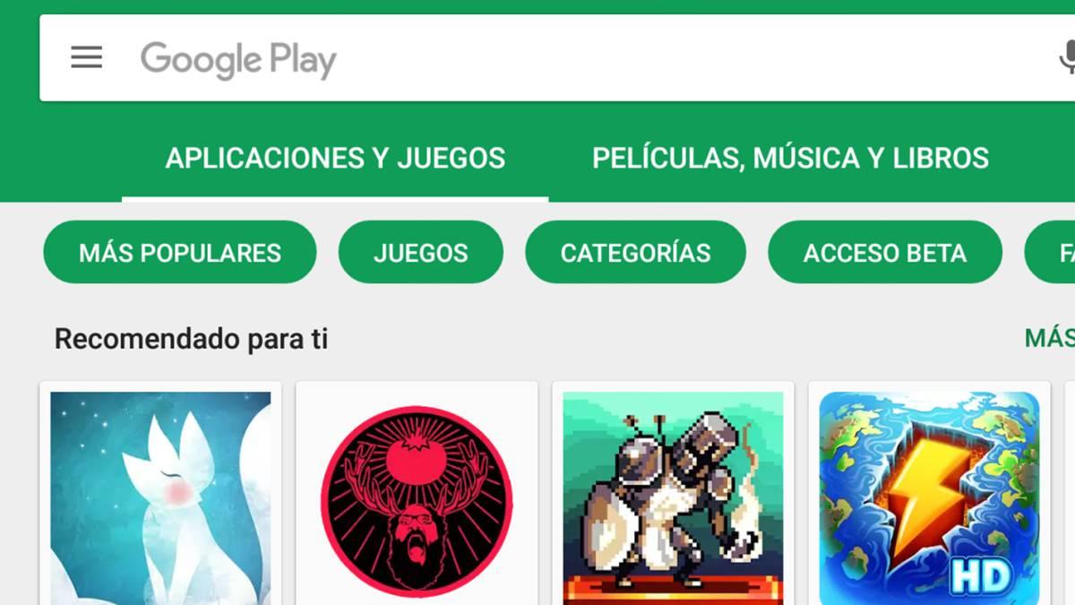 Google Play Store Diferenciara Las Apps De Los Juegos As Com