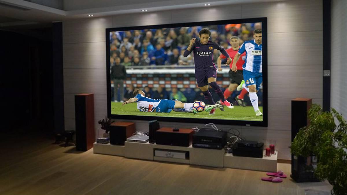 C mo ver el f tbol en casa como neymar proyectores - Television en casa ...