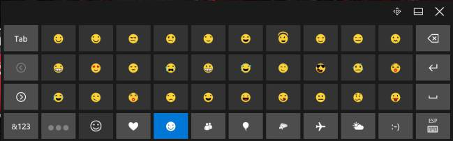 teclado emojis Windows 10
