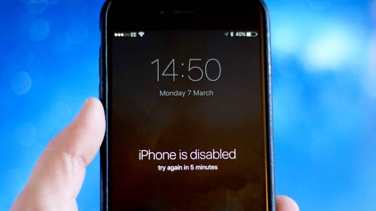 olvidé la contraseña de mi Iphone