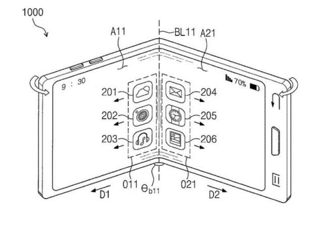Una de las patentes del Samsung Galaxy X