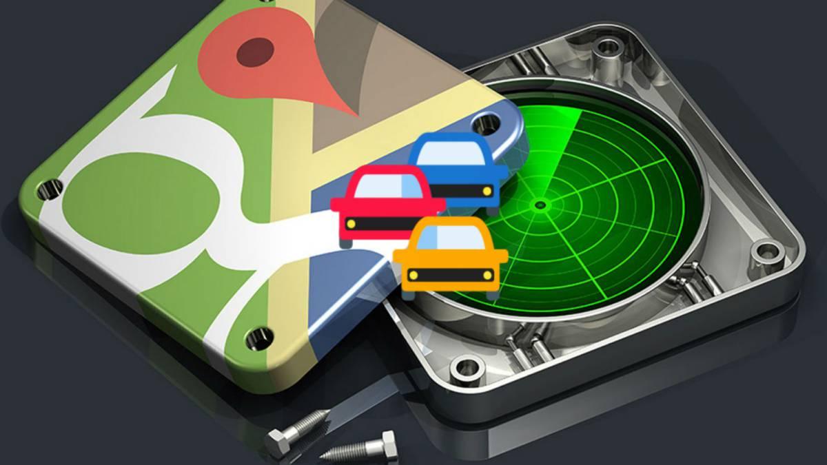 Detectar radares con google maps y otras apps para evitar atascos.