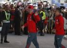 Más de un centenar de hinchas recibió a la Roja en Uruguay