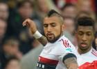 Arturo Vidal salió lesionado en triunfo del Bayern Munich