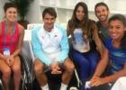 Tenistas chilenas compartieron con Roger Federer en Brisbane