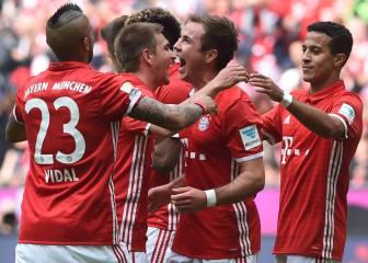 Arturo Vidal y Bayern celebran el título con cómodo triunfo