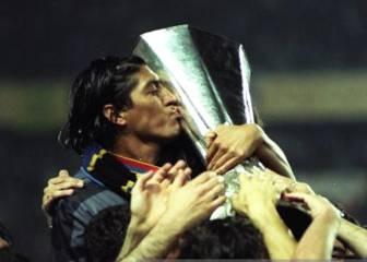 Zamorano y Aros celebraron en la UEFA Europa League