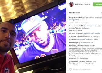 Arturo Vidal gozó con la genial actuación deLeBron James