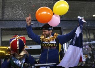 Pablo Quintanilla fue recibido como héroe tras título mundial