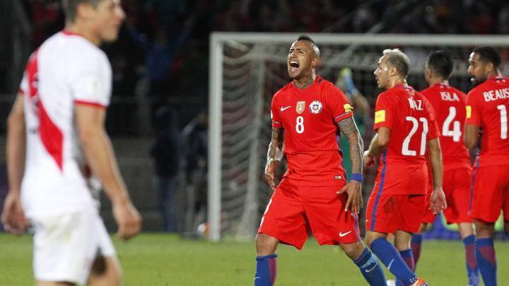 Súper Vidal reubica a Chile en el camino a Rusia 2018
