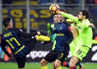 Medel vuelve a jugar después de dos meses en victoria de Inter