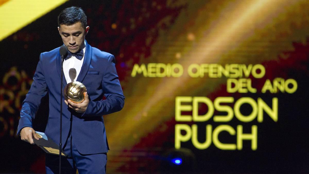 Edson Puch fue elegido como mejor mediocampista ofensivo de la liga mexicana