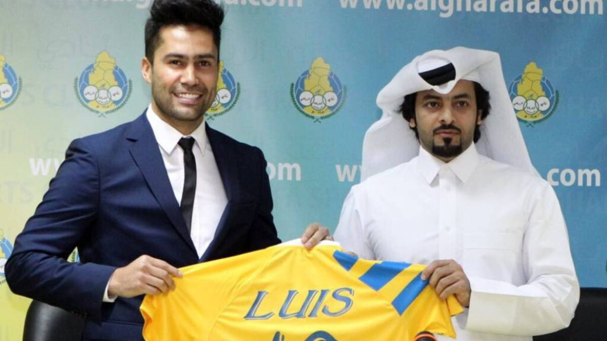 Luis Jiménez fichó como estrella en un club de Qatar