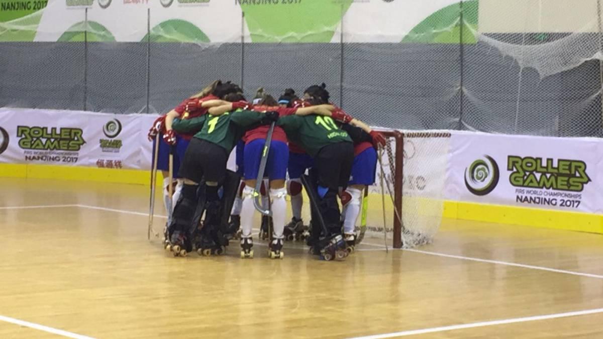Las Águilas derrotaron a Portugal en los Roller Games — Chapa de candidatas