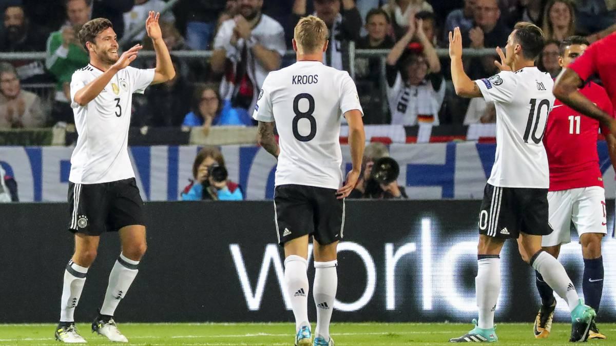 Alemania barre con Noruega y está a un punto del Mundial