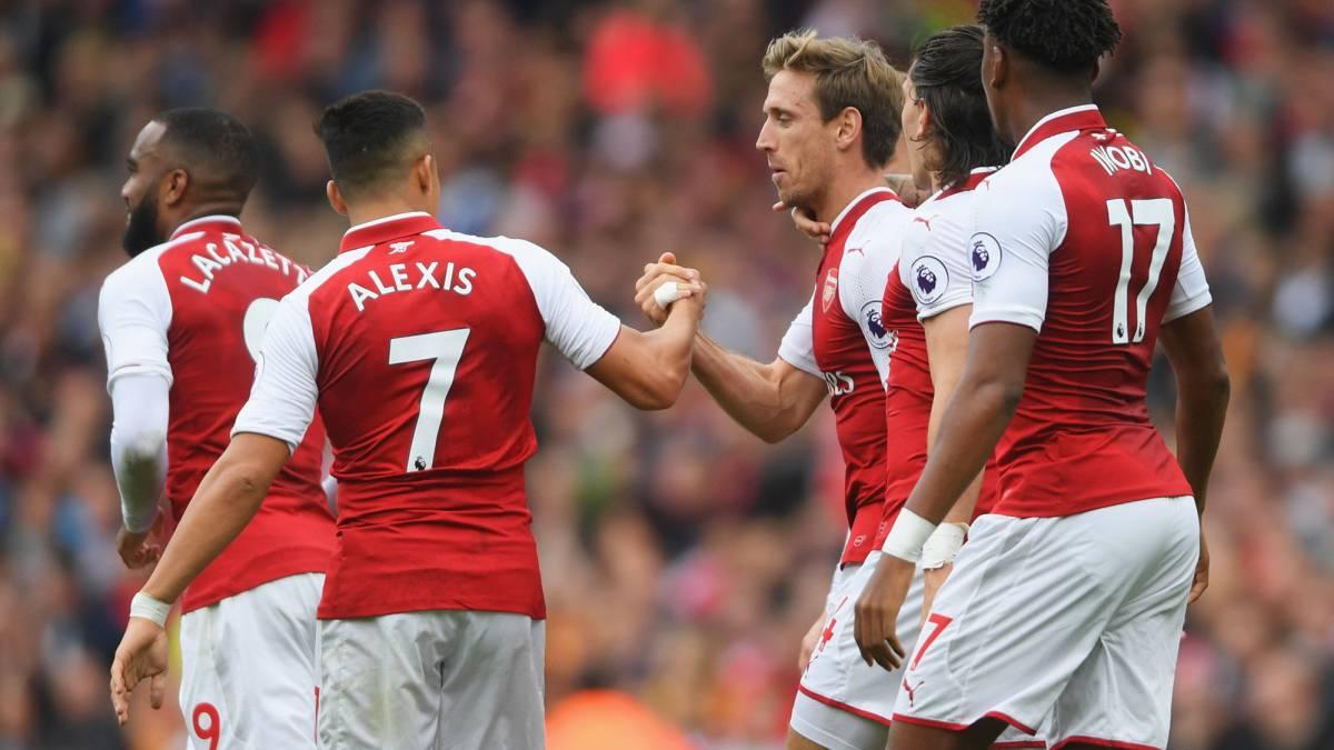 [VIDEO] Alexis Sánchez asistió mediante un taco extraordinario en gol del Arsenal
