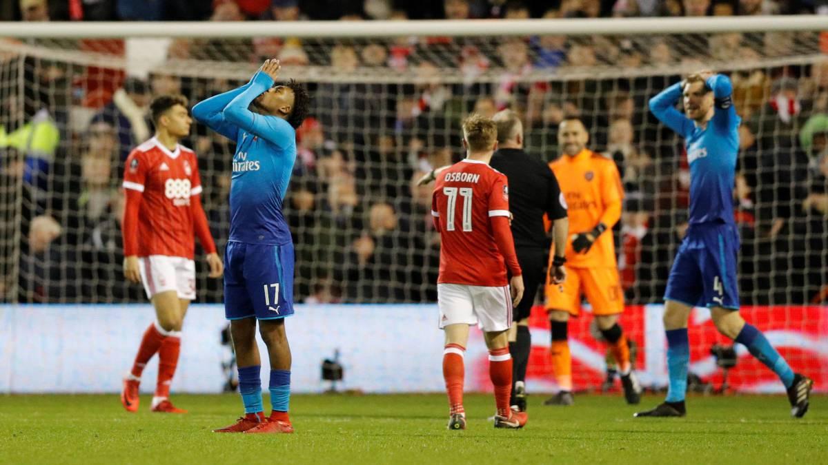 Nottingham dio el gran golpe en la FA Cup