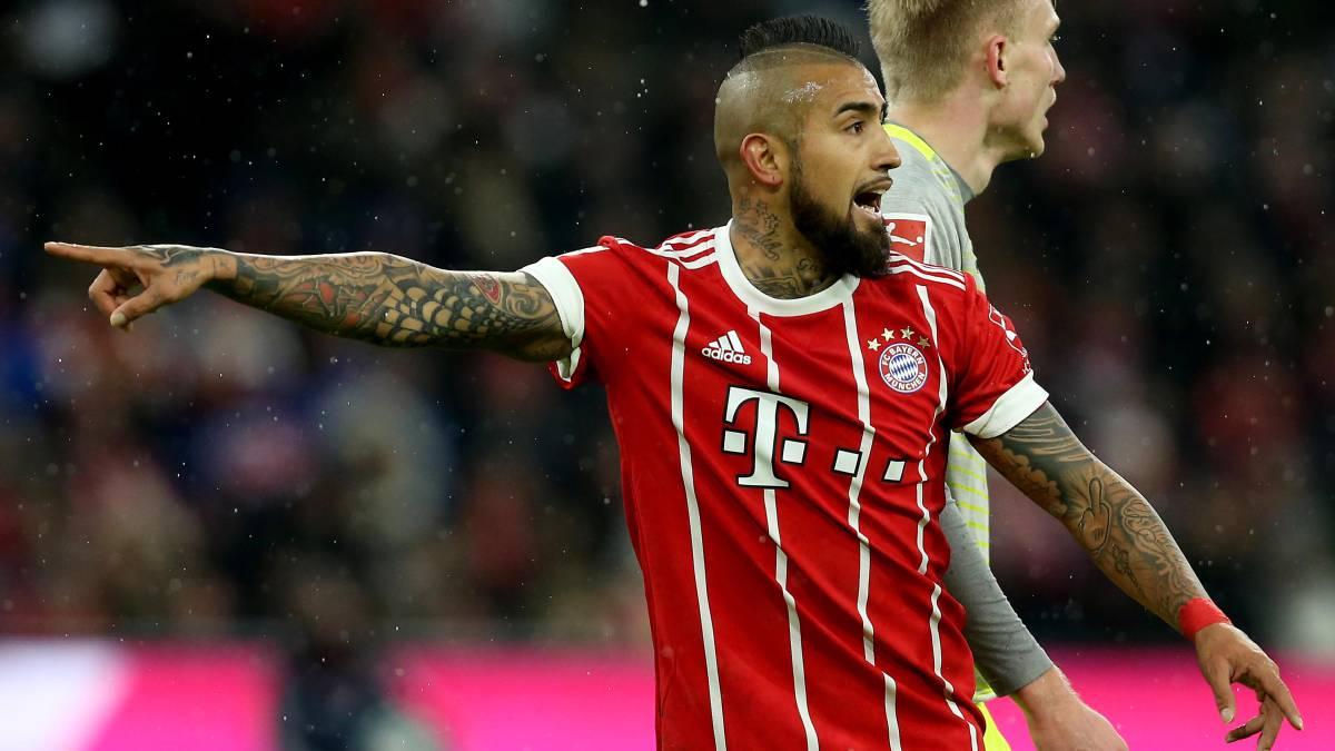 Arturo Vidal será baja del Bayern en la semifinal de la Champions