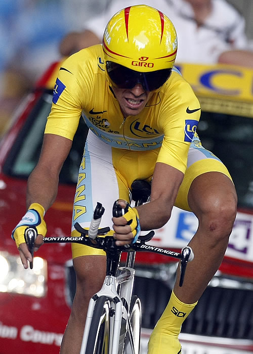 Contador arrolla en la crono y deja casi sentenciado el Tour