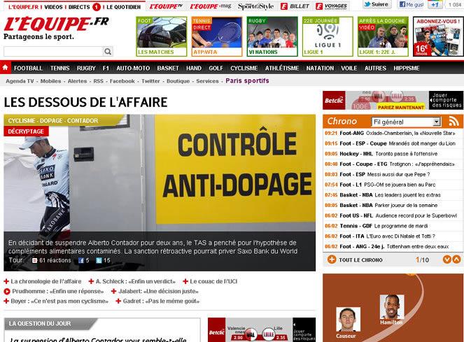 """'Le Monde': """"España debe mirar de frente al dopaje"""""""
