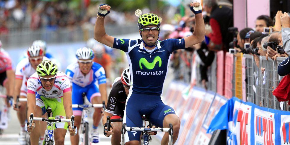 Fran Ventoso repite etapa en el Giro de Italia un año después