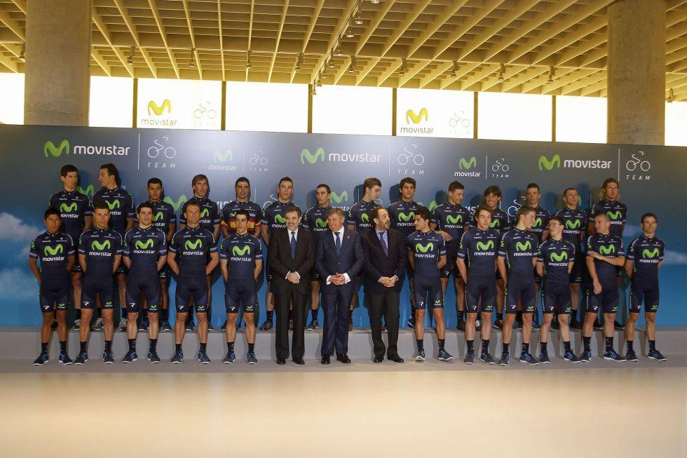 El Movistar Team se presenta con Valverde como capitán