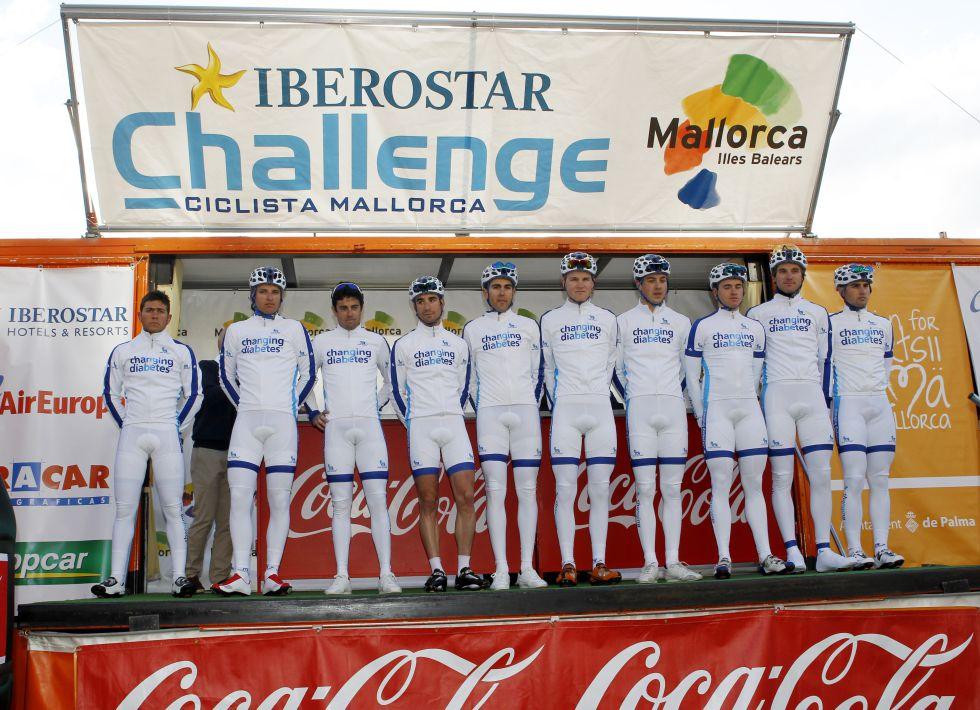 """El equipo de diabéticos debuta """"dando guerra"""" en Mallorca"""