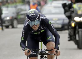 El entrenamiento de Valverde en la contrarreloj da sus frutos