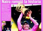 Colombia se tiñe de rosa en honor a su héroe 'Nairoman'