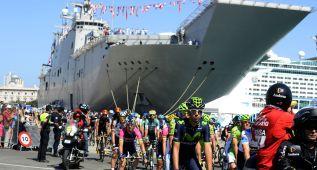 El pelotón salió en Cádiz del portaaviones Juan Carlos I