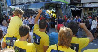 Protestas en A Estrada contra el Movistar por el caso Marque